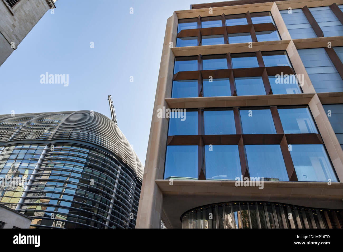 Bloomberg new London headquarters and The Walbrook building (left). - Stock Image