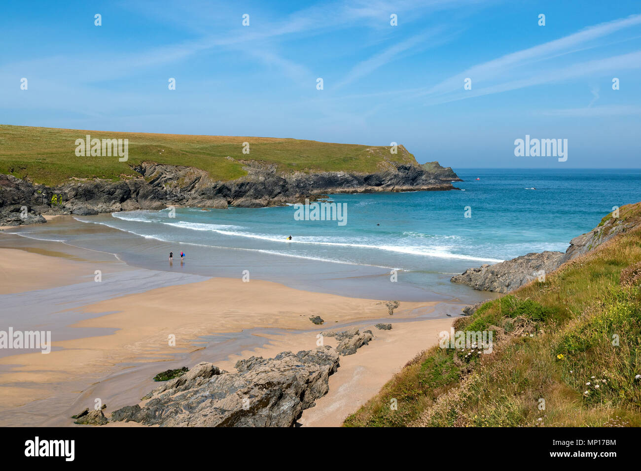 porth joke, secluded cove, cornwall, england, britain, uk. - Stock Image