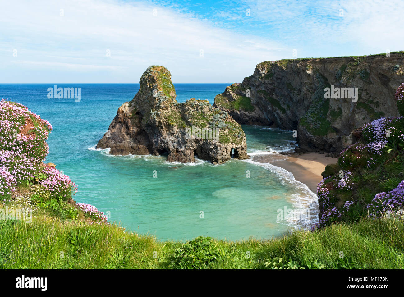 whipsiderry beach, newquay, cornwall, england, britain, uk. - Stock Image