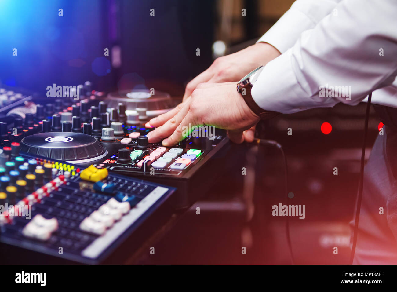 DJ playing music - Stock Image