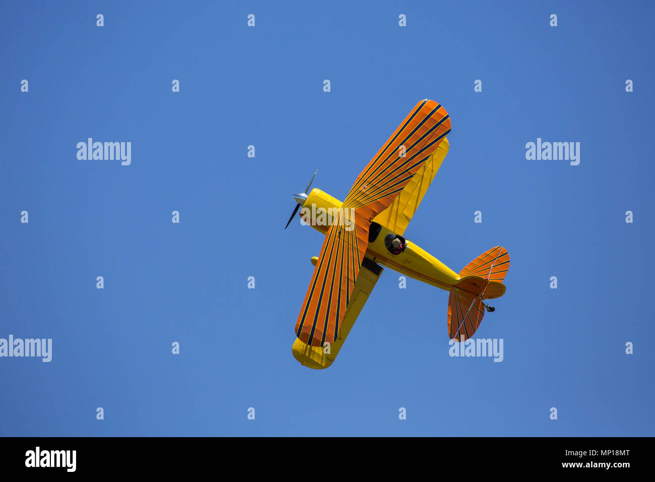 Great Lakes Biplane at the Central Texas Airshow - Stock Image