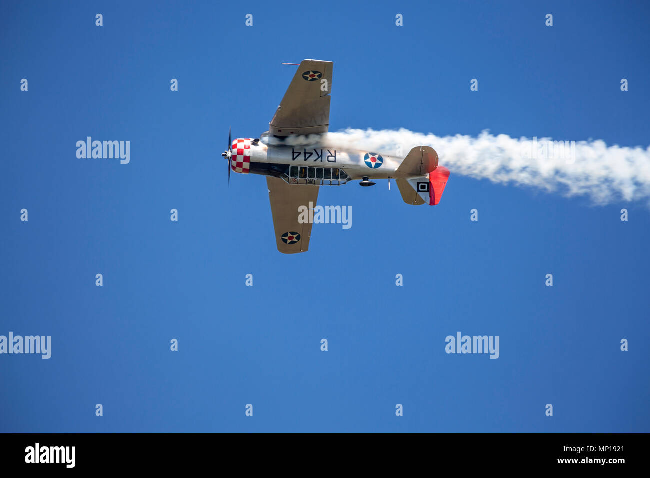 North American Texan aircraft at the Central Texas Airshow - Stock Image