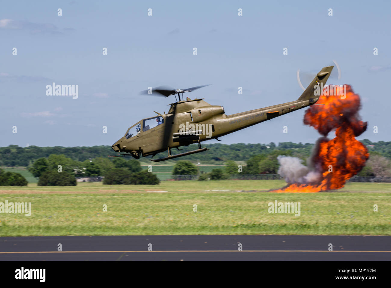 Cobra AH-1 Helicopter at the Central Texas Airshow Stock Photo