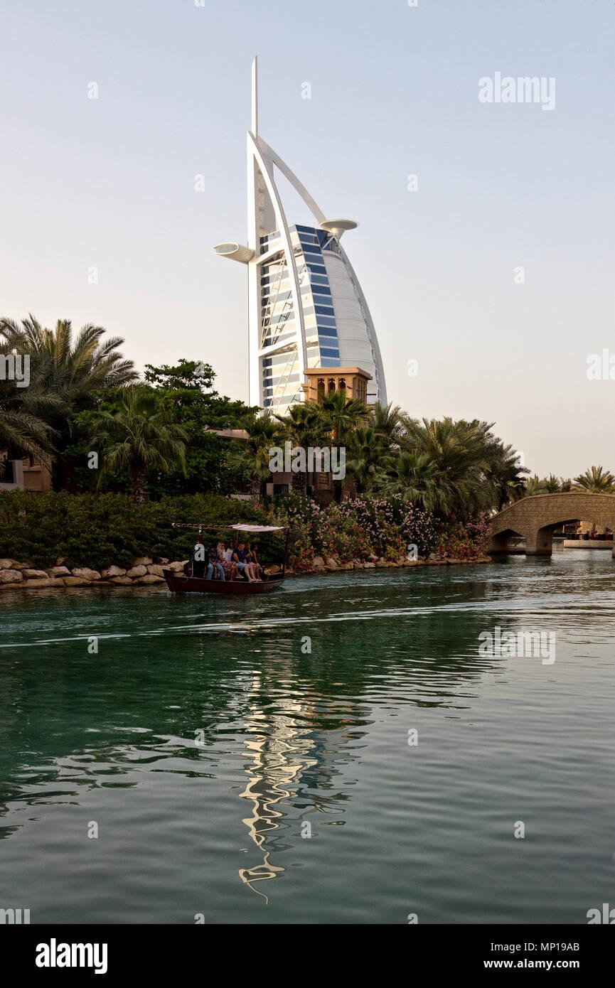 Dubai - Burj al Arab. Stock Photo