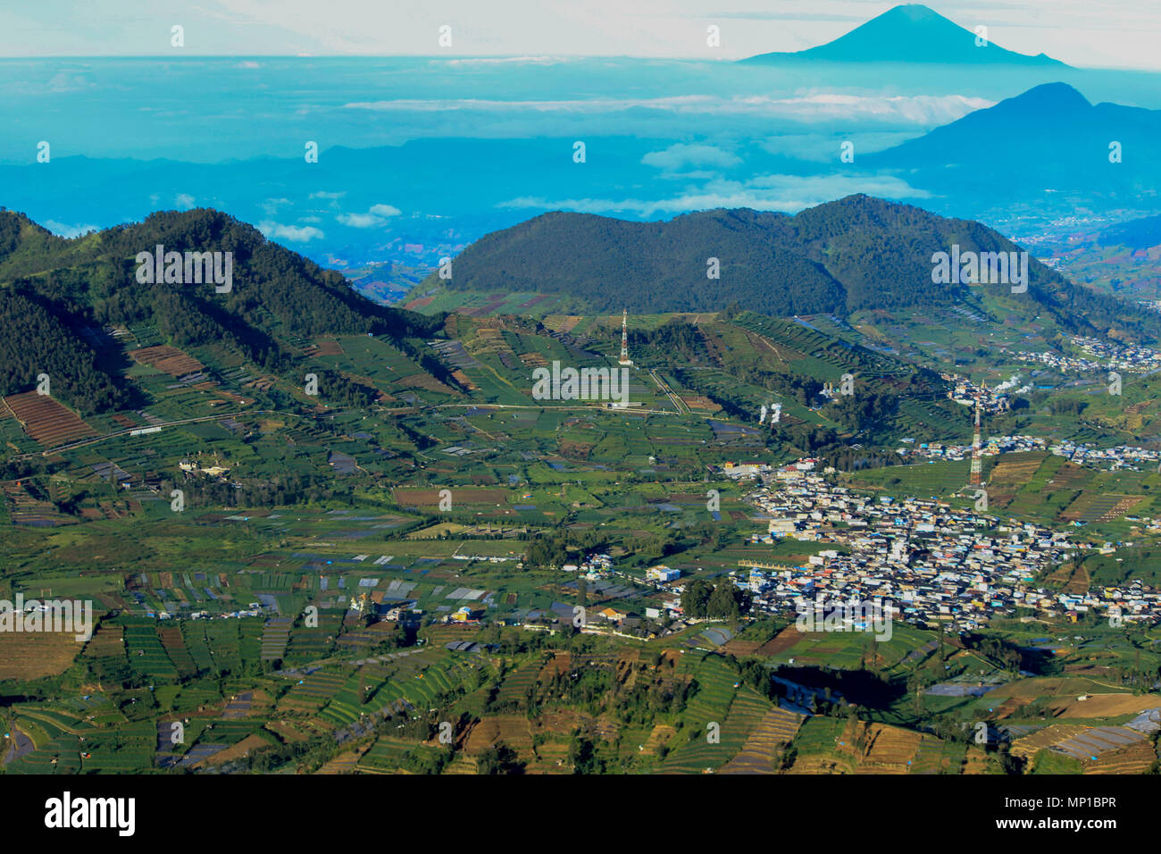 The Dieng Plateau And Mount Prau Is One Of Most Beautiful Tour Plateu Destination In Central Java Indonesia