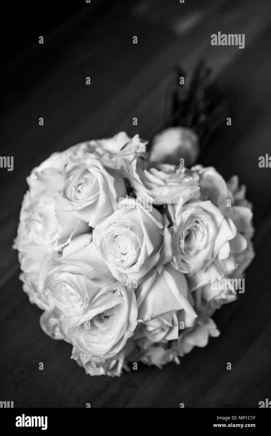 White Roses Stylish Black And White Photo Arrangement Greyscale