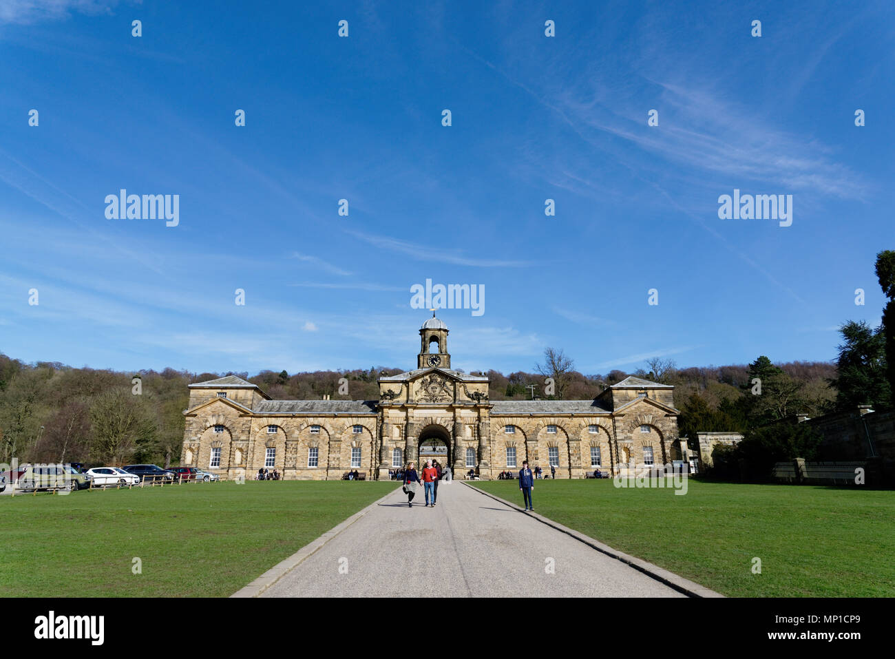 The STables at Chatsworth House, Bakewell, Derbyshire - Stock Image