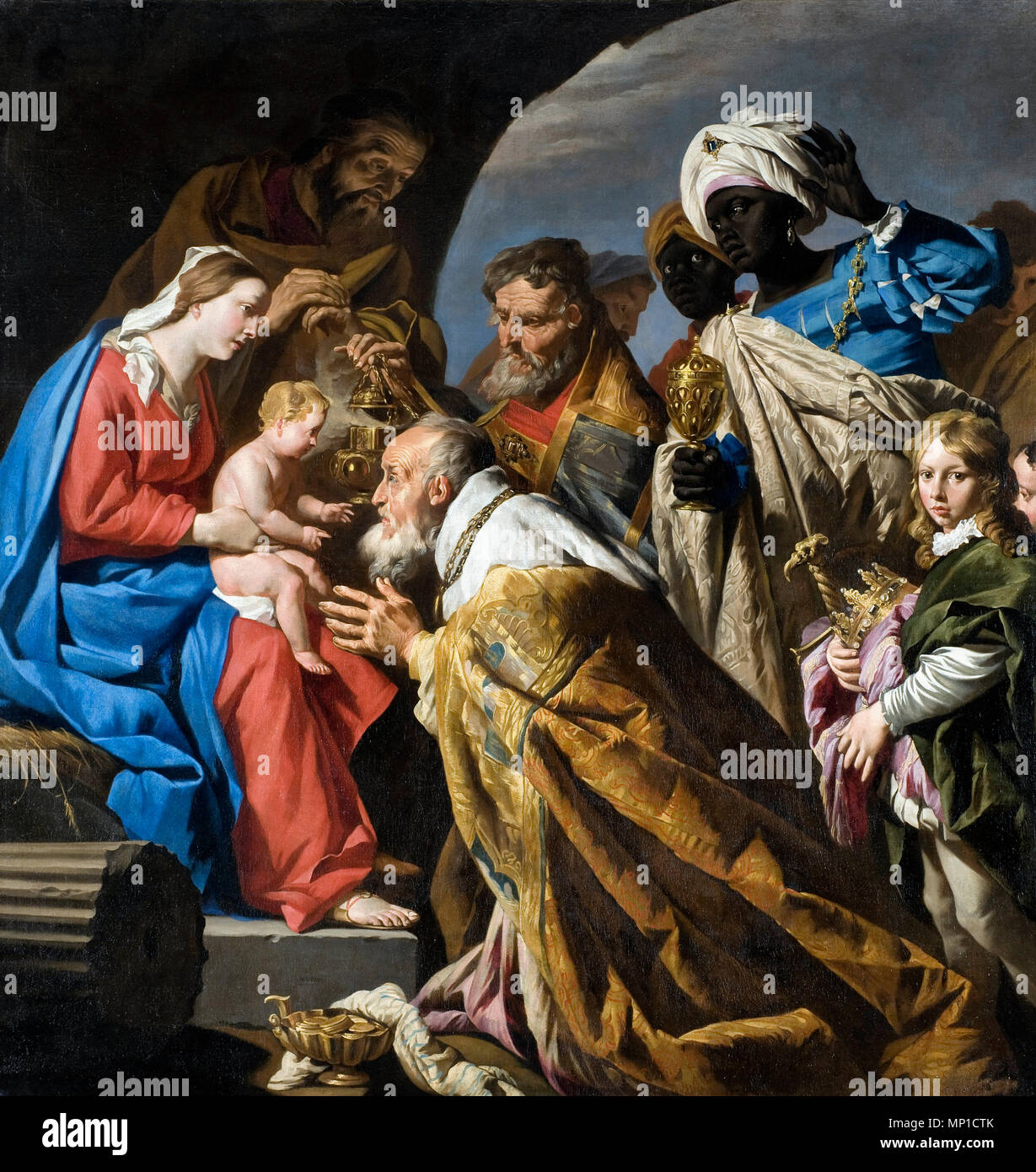 The Adoration of the Magi, Matthias Stom or Matthias Stomer, 1630s - Stock Image