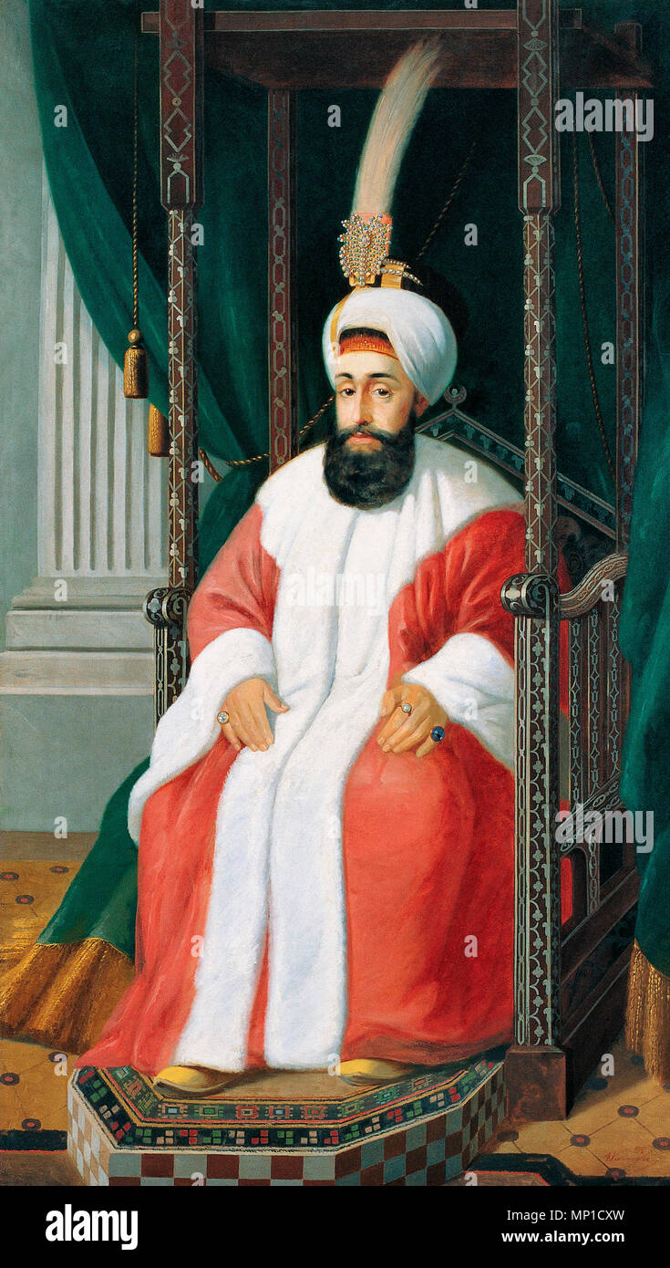 Selim III, 28th Sultan of the Ottoman Empire and 107th Caliph of Islam - Joseph Warnia-Zarzecki 1850 - Stock Image