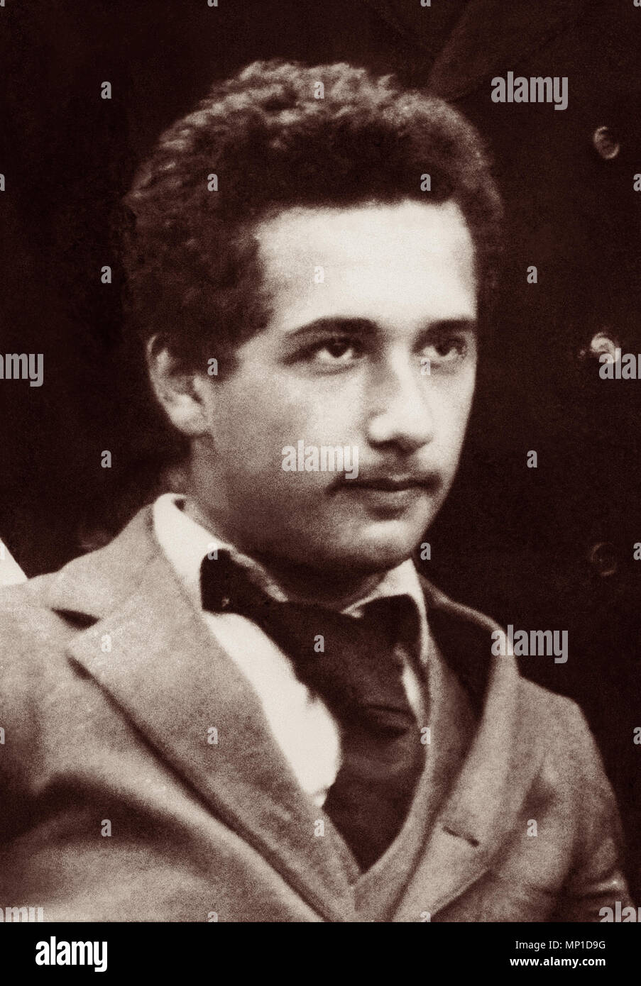 Albert Einstein (1879-1955) as a young man in 1896. - Stock Image