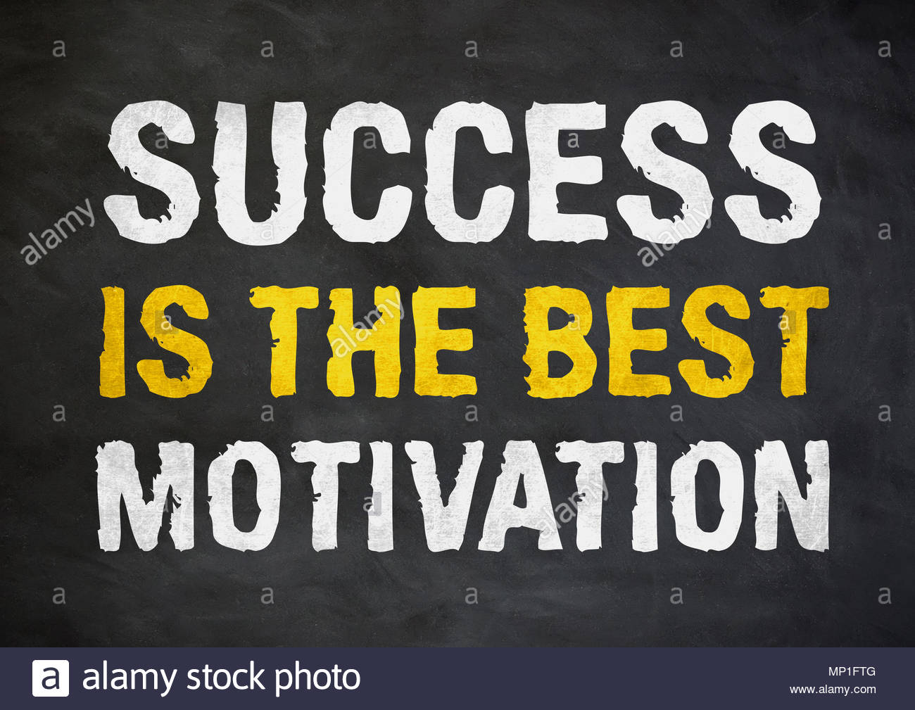 success is the best motivation - business motivational quote - Stock Image
