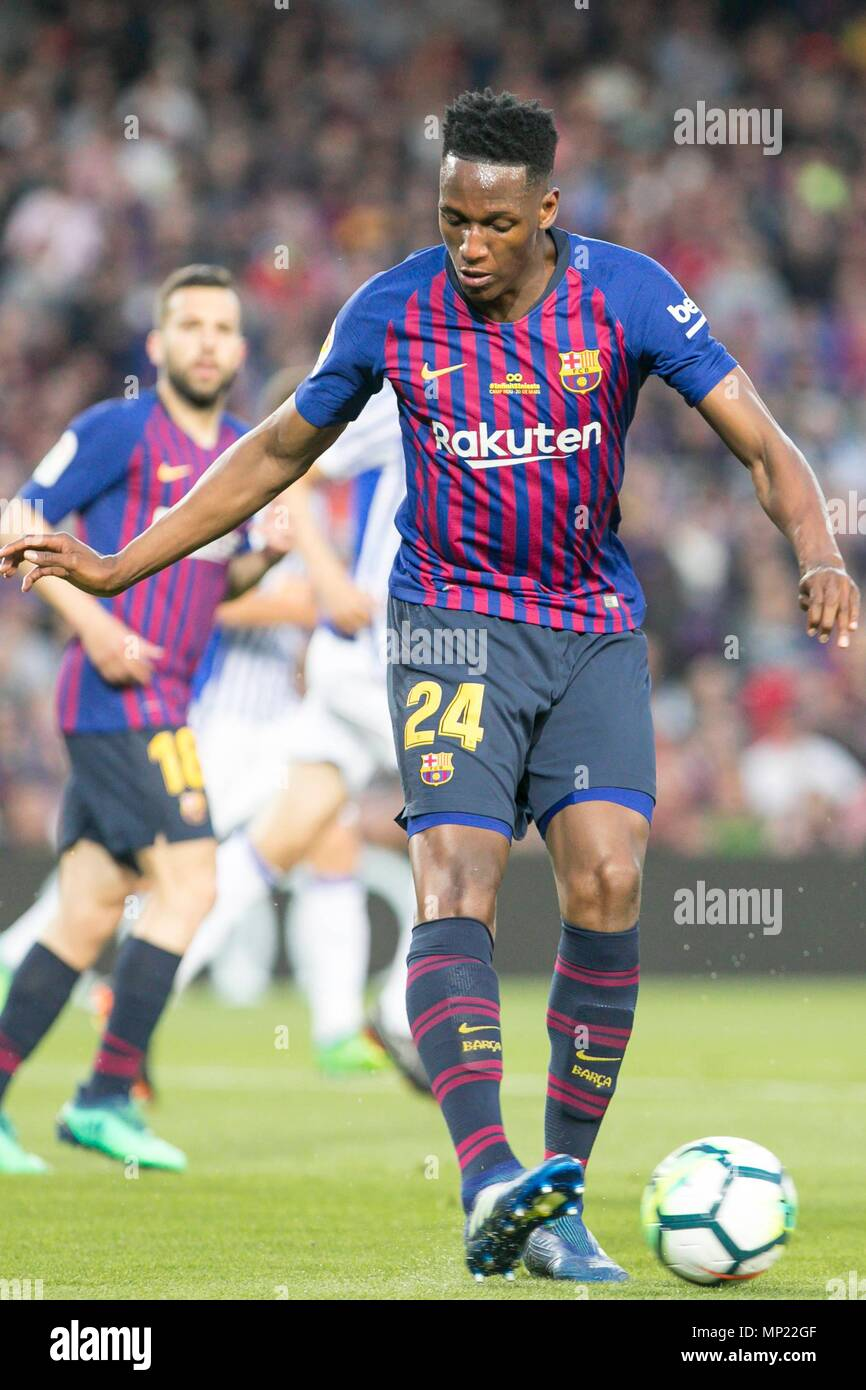 Barcelona Spain 20th May 2018 Fc Barcelona Defender Yerry Mina 24 During The Match Between Fc