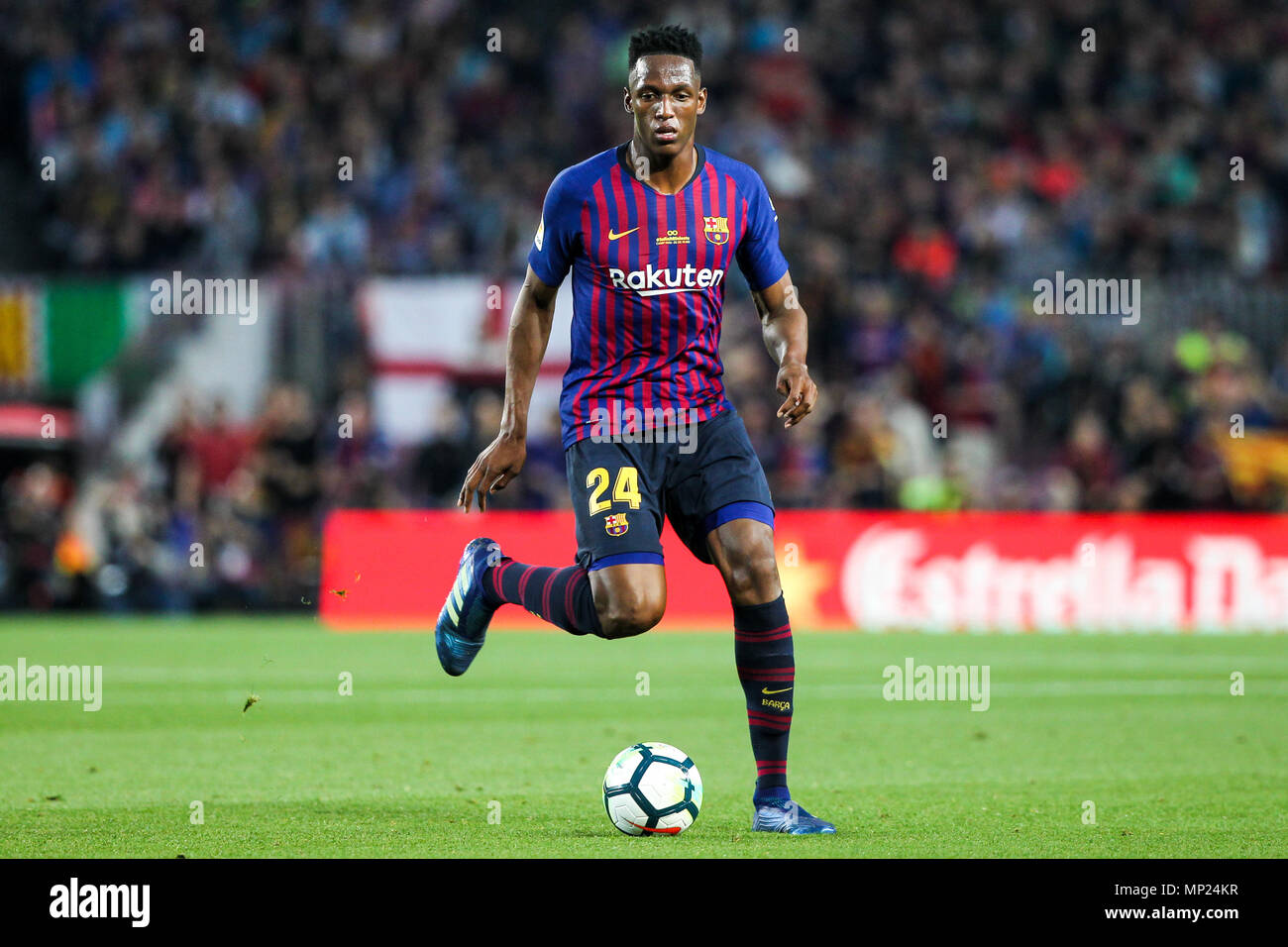 Camp Nou Barcelona Spain 20th May 2018 La Liga Football Barcelona Versus Real Sociedad Yerry Mina Of Fc Barcelona With The Ball Credit Action Plus Sports Alamy Live News Stock Photo Alamy