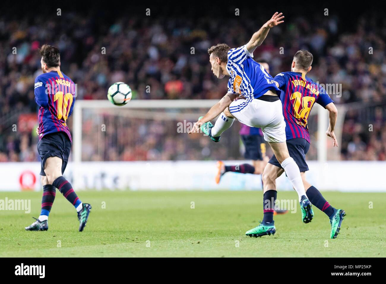 SPAIN - 20th of May: Real Sociedad forward Juanmi (7) during the match between FC Barcelona against Real Sociedad for the round 38 of the Liga Santander, played at Camp Nou Stadium on 20th May 2018 in Barcelona, Spain. (Credit: Mikel Trigueros /Urbanandsport / Cordon Press)  Cordon Press - Stock Image