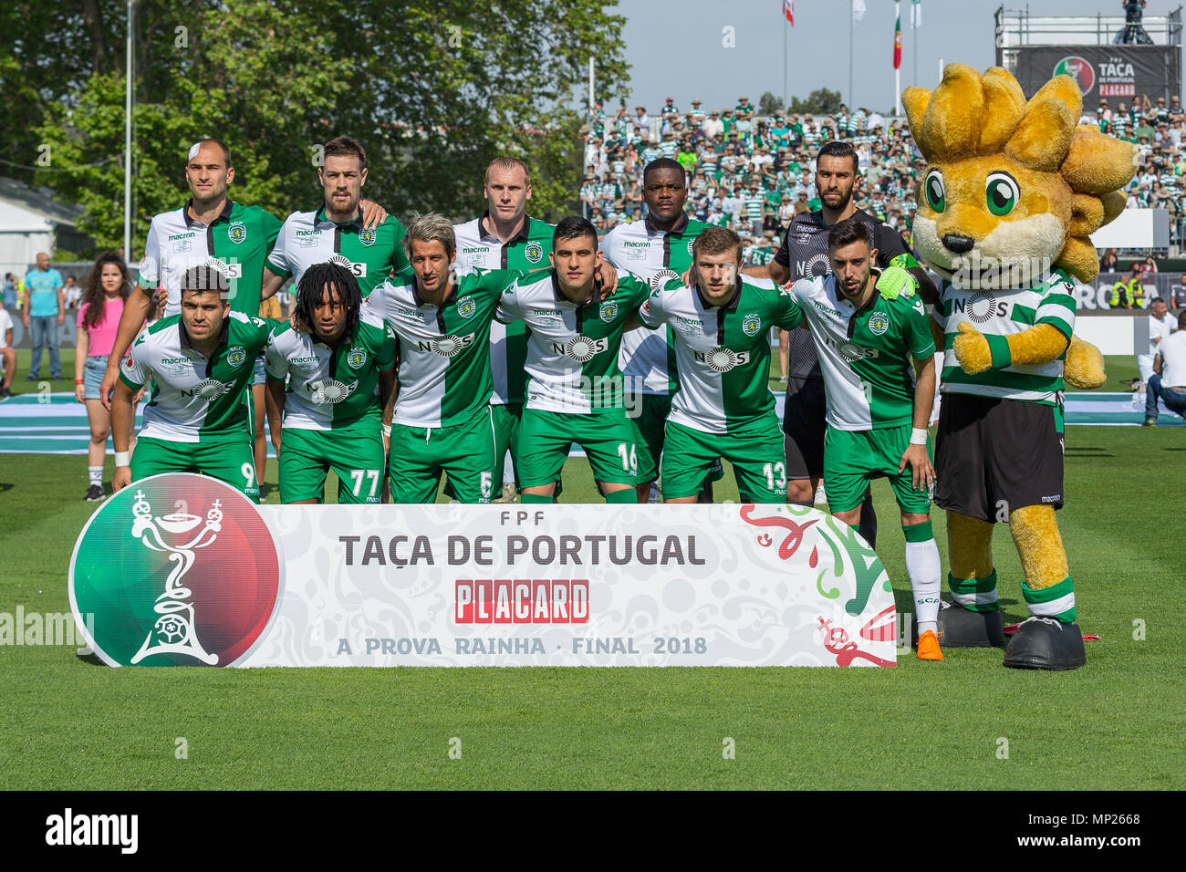 May 20, 2018. Lisbon, Portugal. Sporting starting eleven for  the game of the Portuguese Cup Final, between Desportivo das Aves vs Sporting CP © Alexandre de Sousa/Alamy Live News - Stock Image