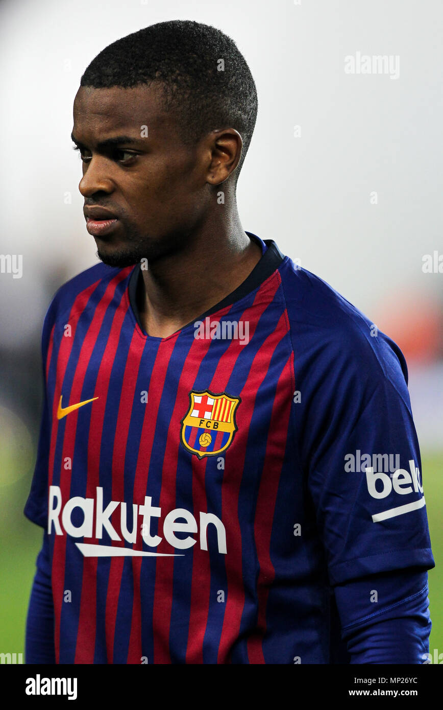 Camp Nou, Barcelona, Spain. 20th May, 2018. La Liga football, Barcelona versus Real Sociedad; Nelson Semedo of FC Barcelona Credit: Action Plus Sports/Alamy Live News Stock Photo