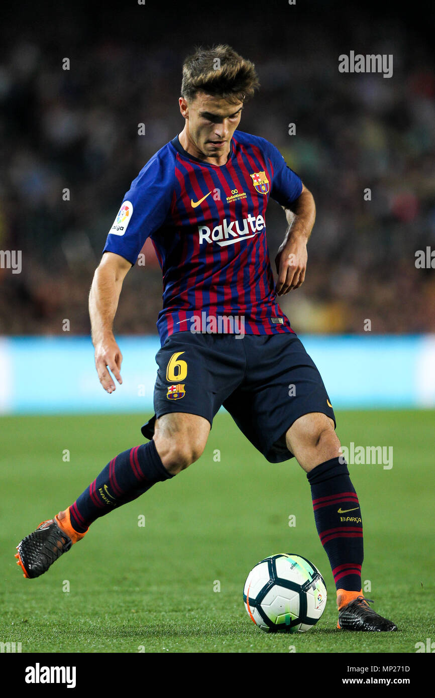 Camp Nou, Barcelona, Spain. 20th May, 2018. La Liga football, Barcelona versus Real Sociedad; Denis Suarez of FC Barcelona Credit: Action Plus Sports/Alamy Live News Stock Photo