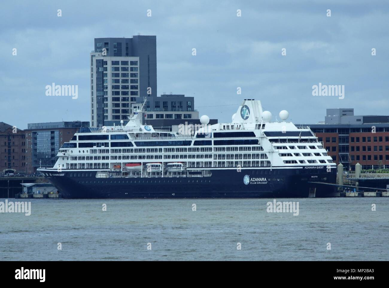 Liverpool,uk fred olson cruise ship Braemar berthed in Liverpool credit Ian Fairbrother/Alamy - Stock Image