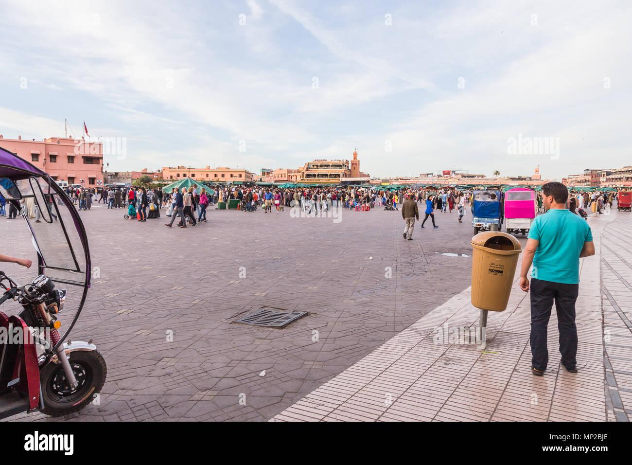 Jamaa el fna square, Marrakech, Morocco. Stock Photo