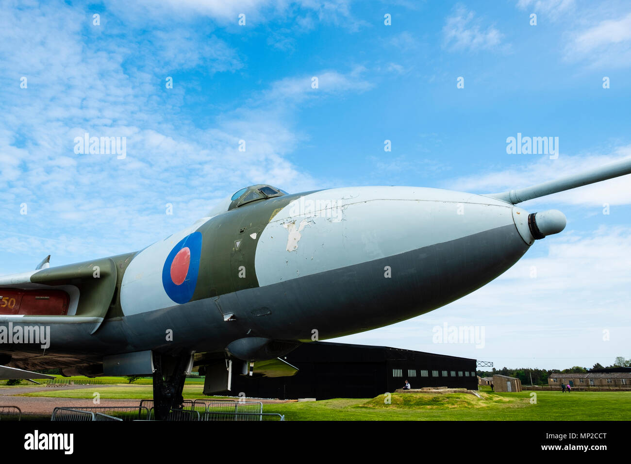 Avro Vulcan B.2A on display at National Museum of Flight at East Fortune Airfield in East Lothian, Scotland, United Kingdom - Stock Image