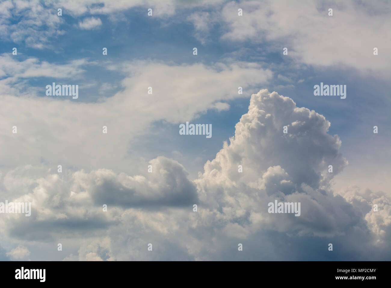 Clouds background cumulonimbus cloud formations before the storm - Stock Image