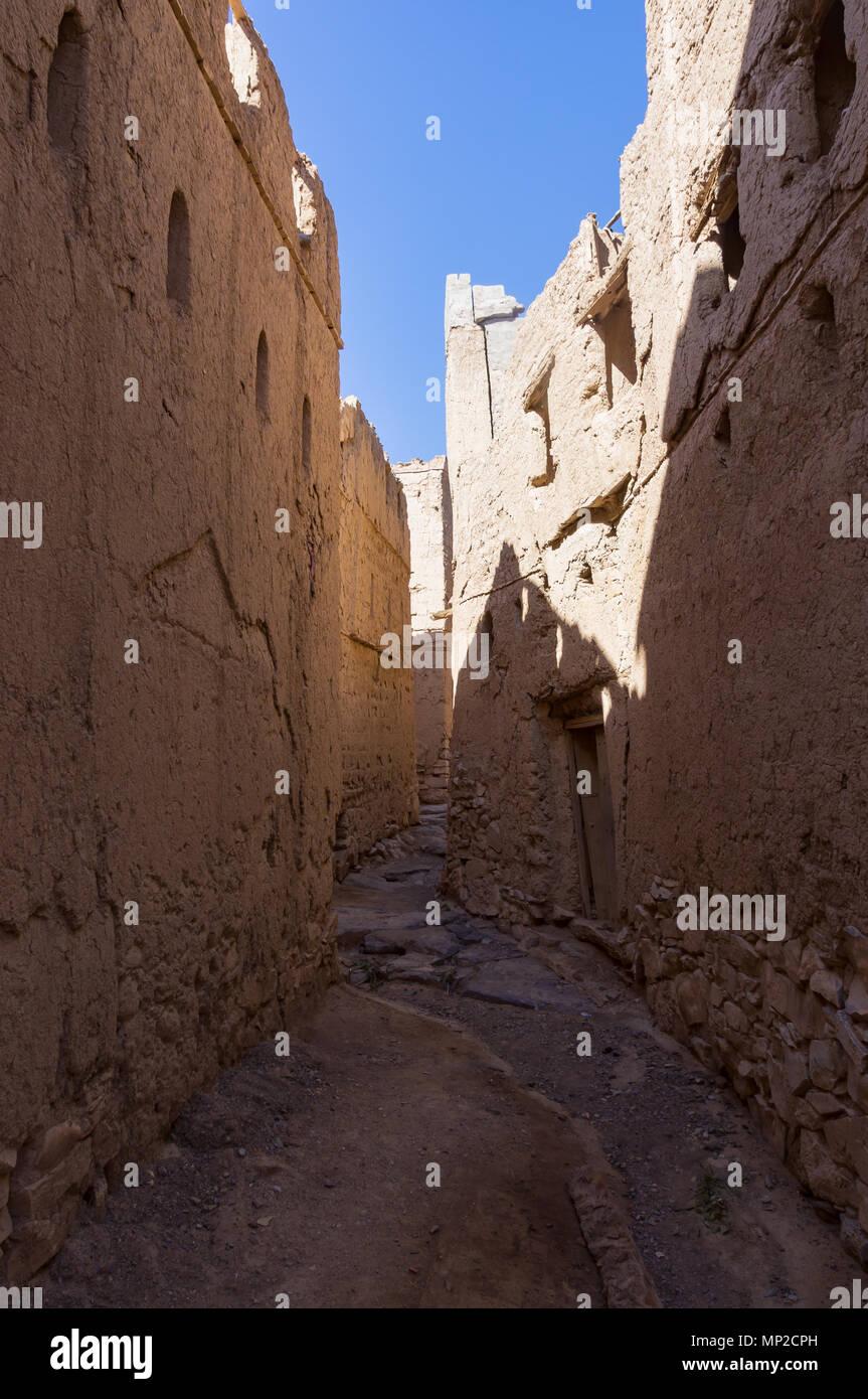 Historiocal village of Al Hamra - Oman - Stock Image