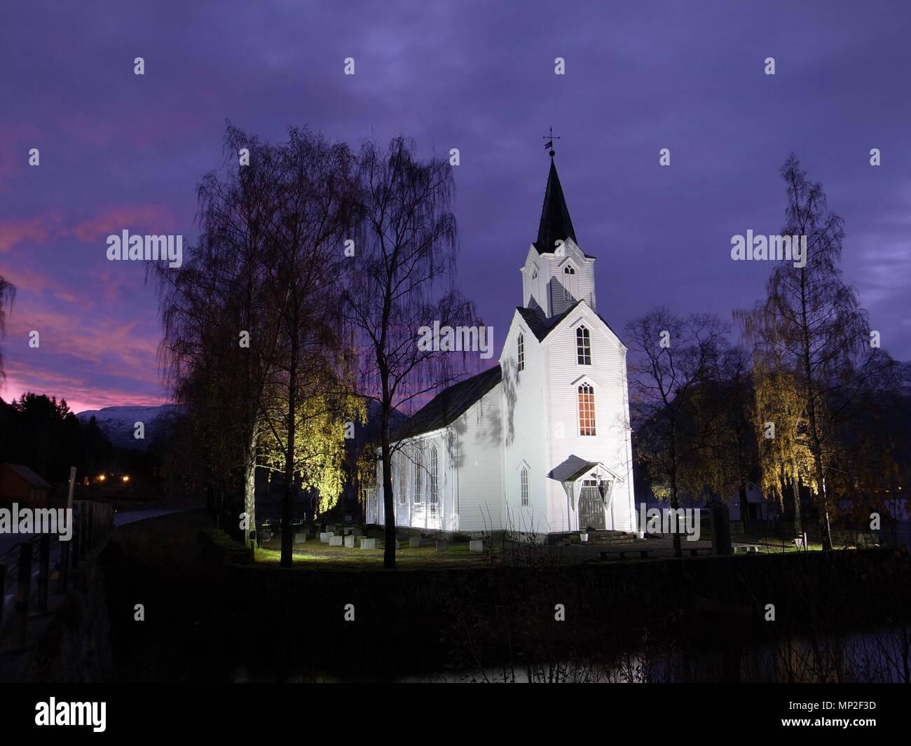 Helgheim Kirk, Church, Jolster, Sogn og Fjordane, Norway, Norge - Stock Image