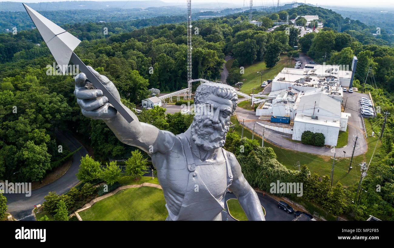 The Vulcan Statue, Vulcan Park, Birmingham, Alabama, USA Stock Photo