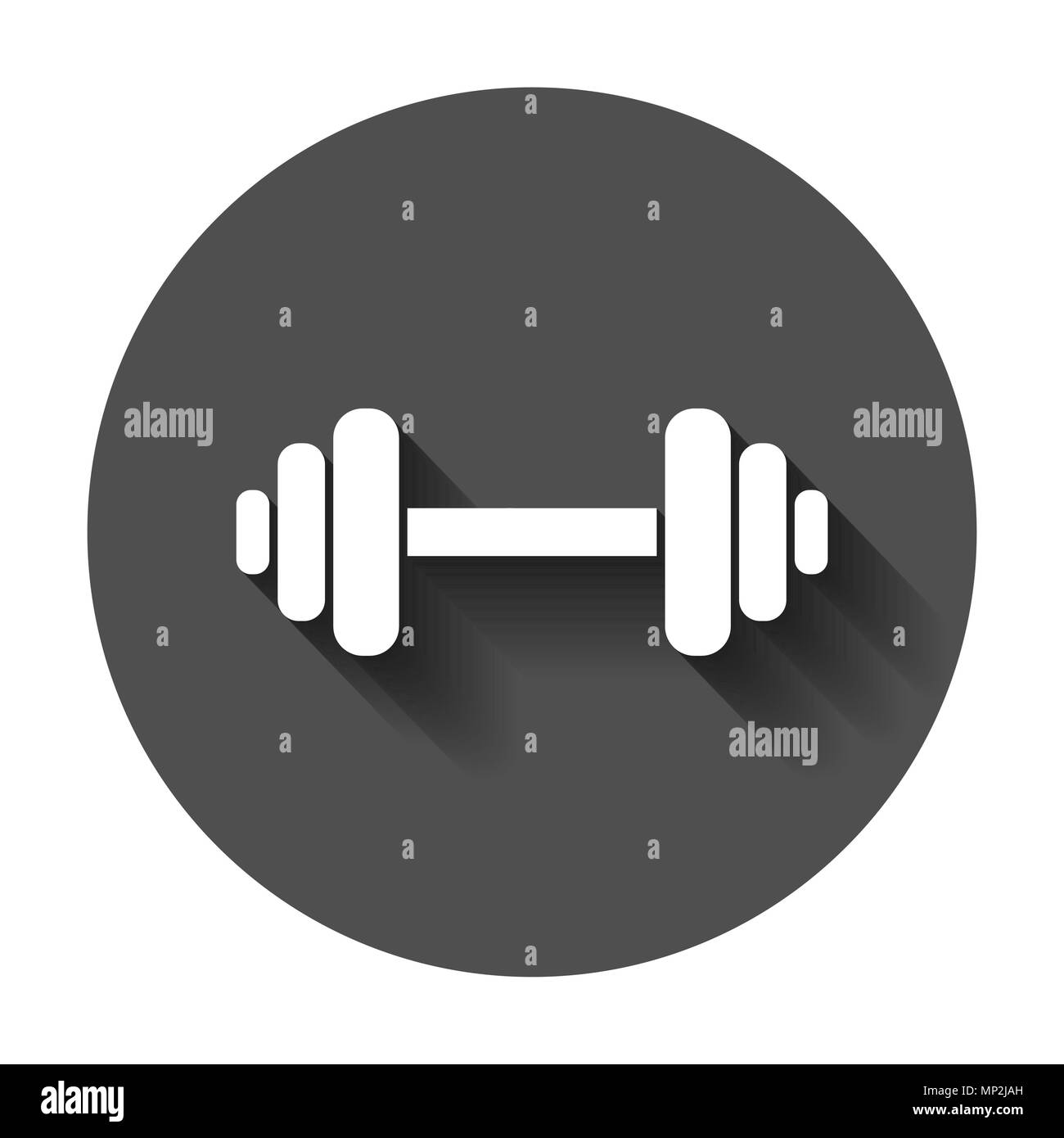 Cool Dumbbell Fitness Gym In Flat Style Barbell Illustration Gmtry Best Dining Table And Chair Ideas Images Gmtryco