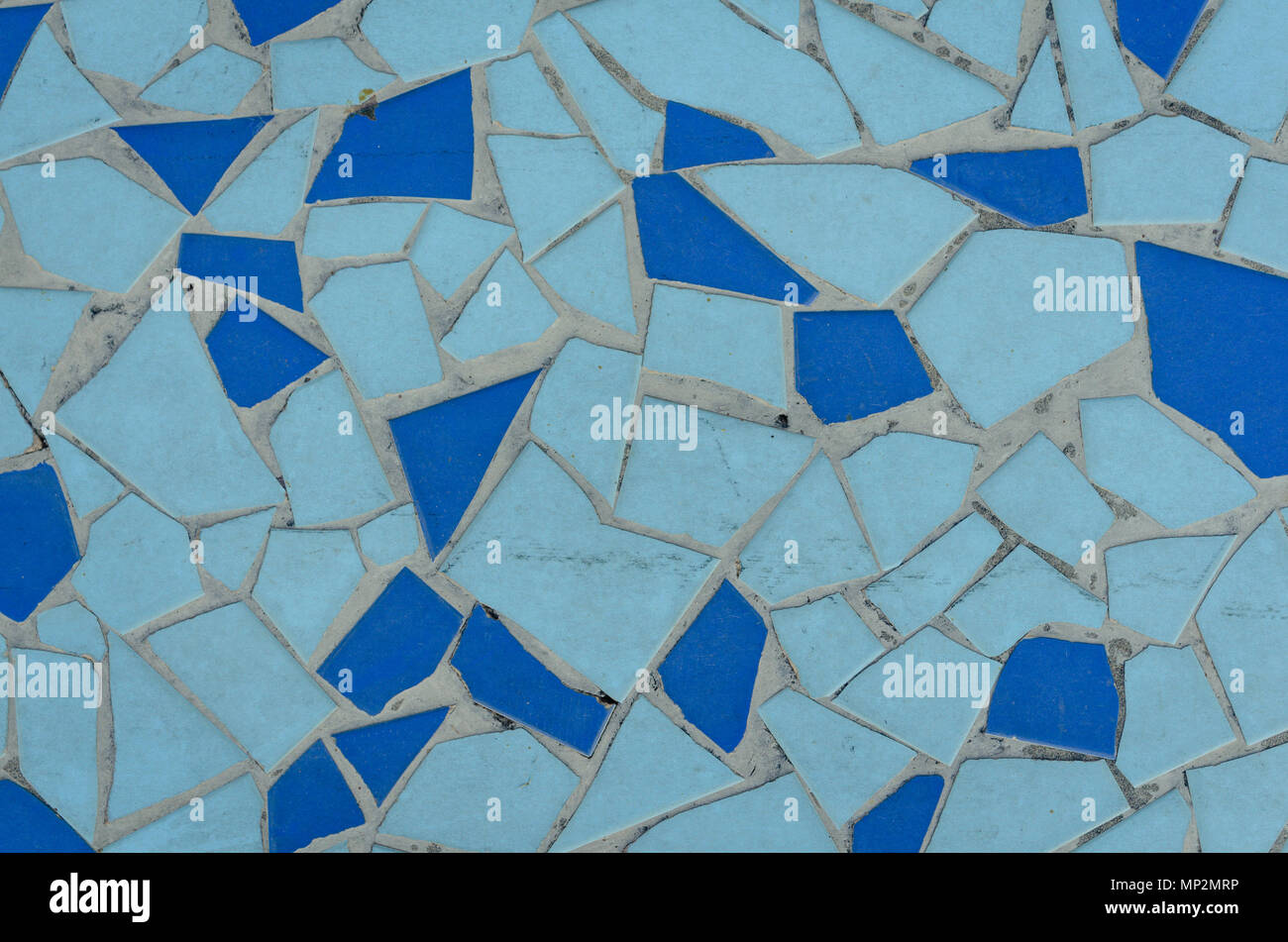 Background of blue mosaic tiles in a pattern. Tile texture Stock ...
