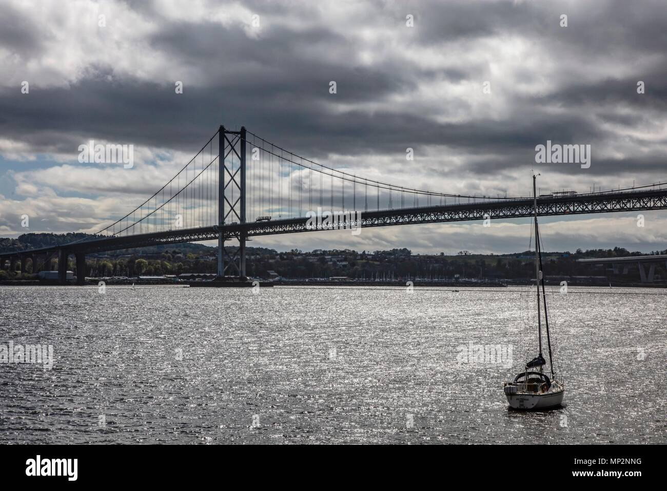 Forth Rail Bridge, North Queensferry, Scotland - Stock Image