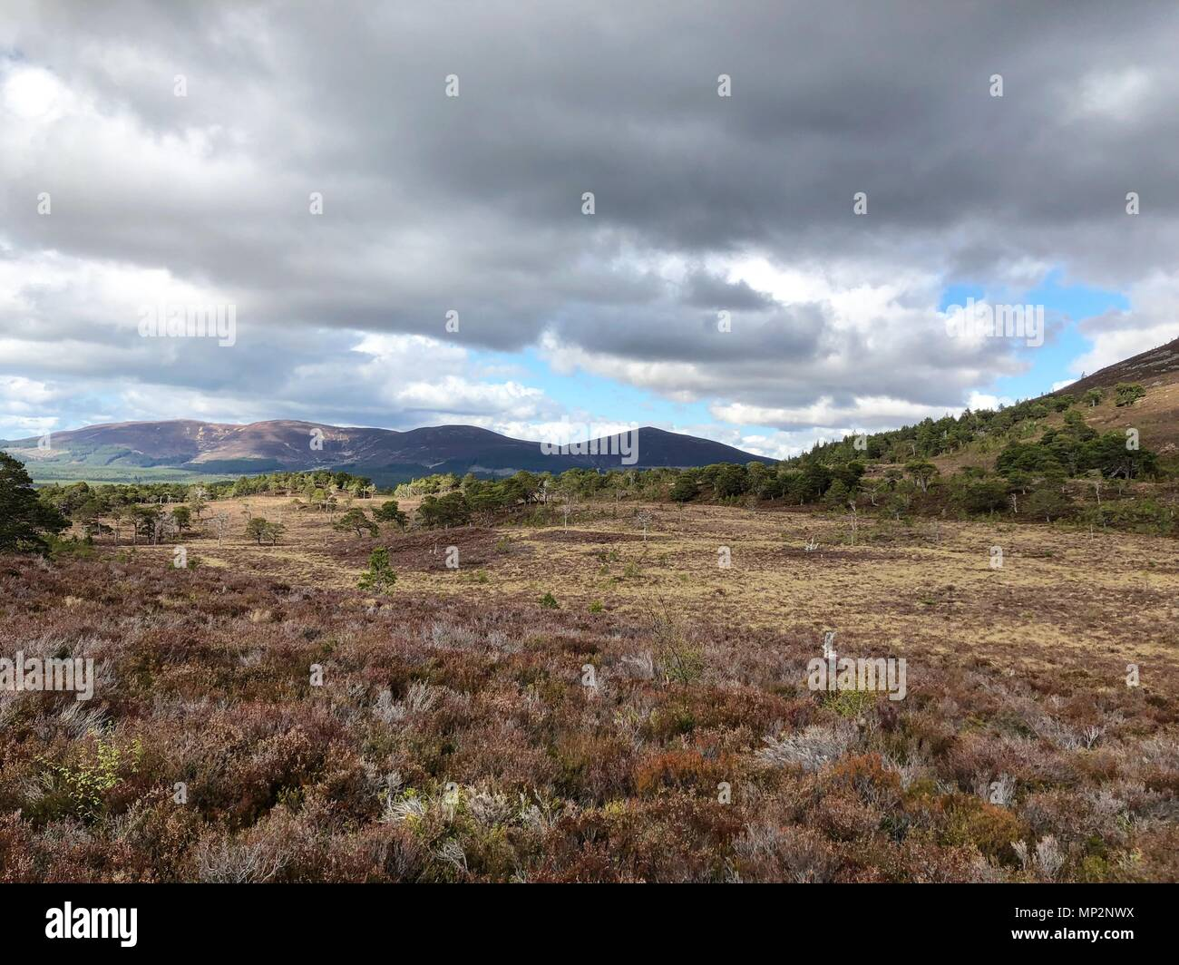 Lairig Ghru high in the Grampian Mountains. A famous mountain pass that cuts through the Cairngorms near to Aviemore and Ben Macdui. - Stock Image
