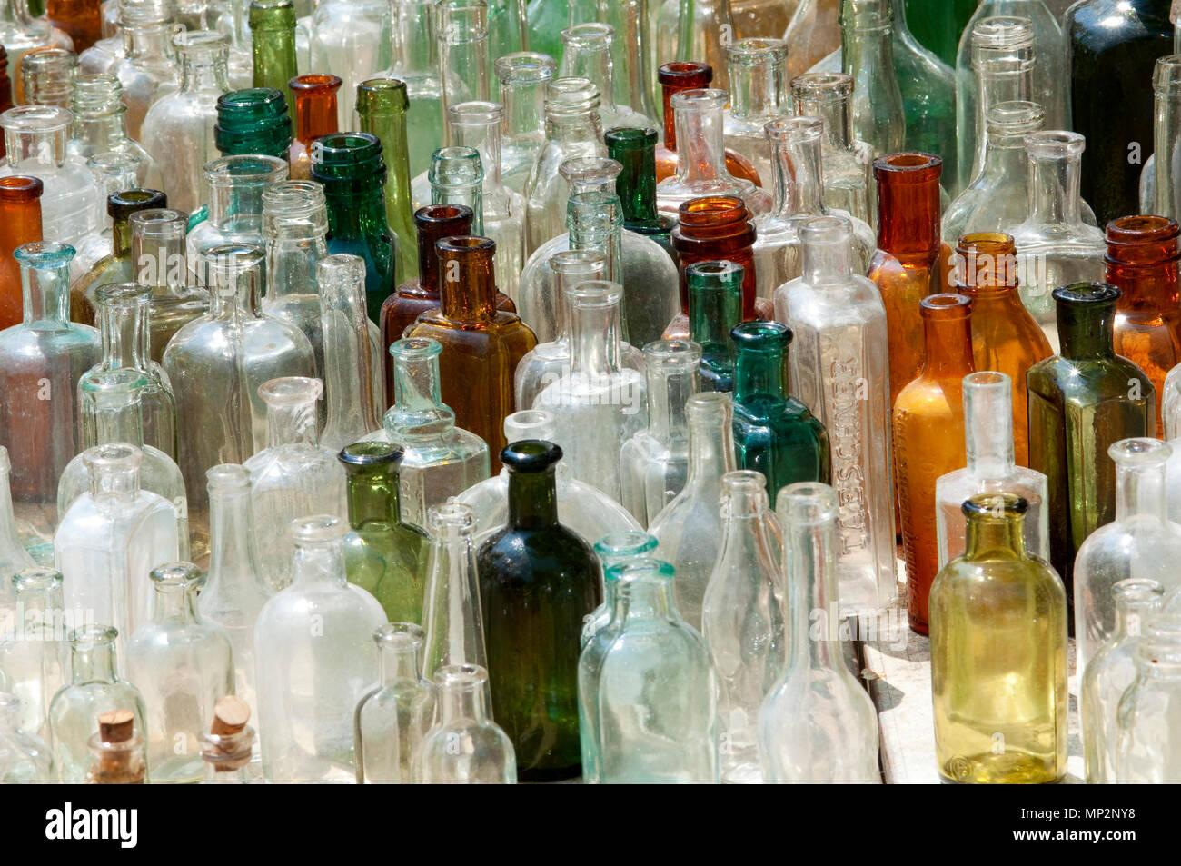 Empty Glass Bottles - Stock Image