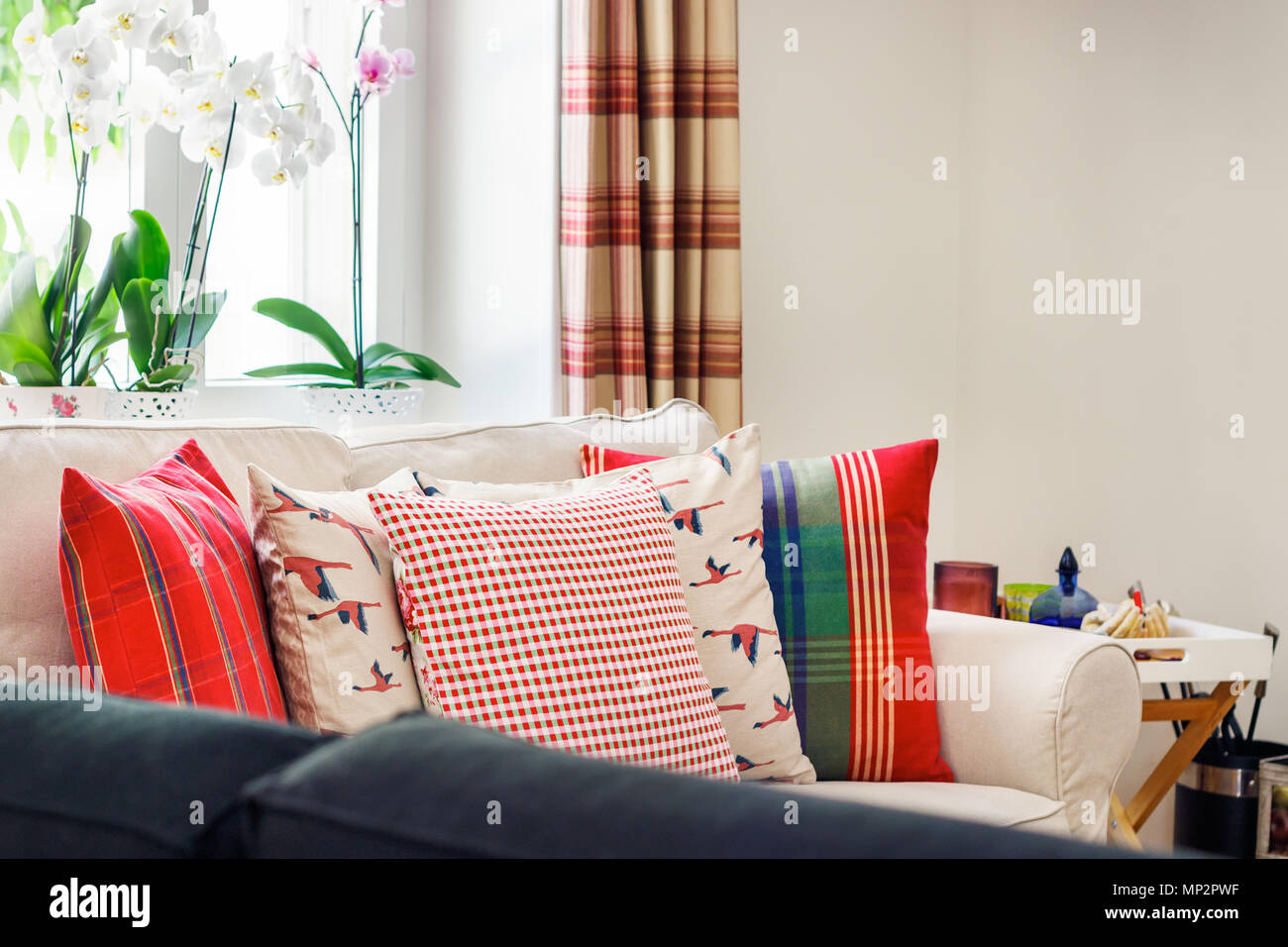 Detail Of A Living Room Interior English Country Style With