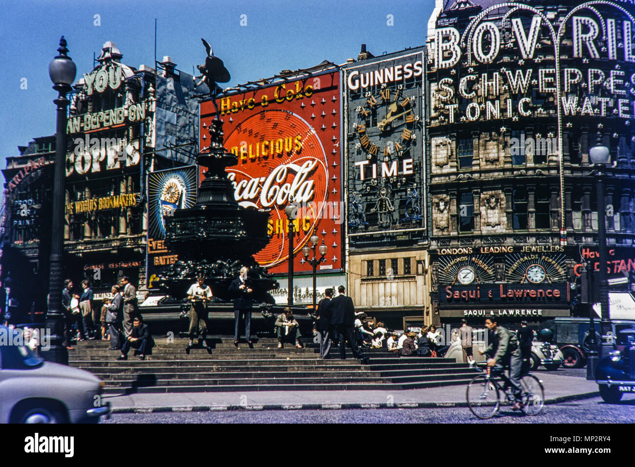 Piccadilly Circus, London in the 1950s - Stock Image