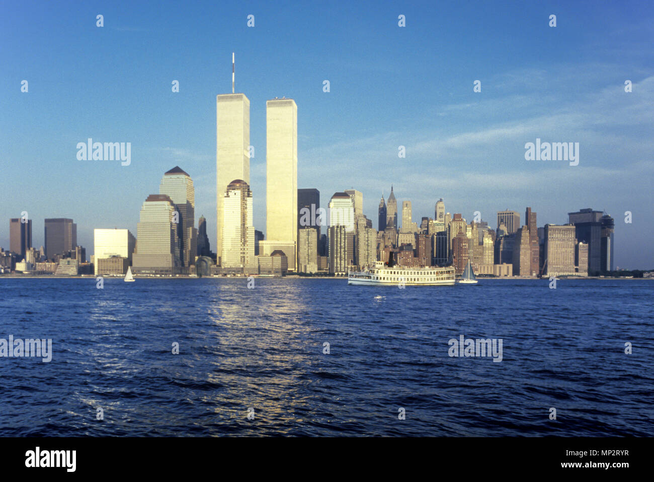 twin towers new york sunset stock photos amp twin towers new