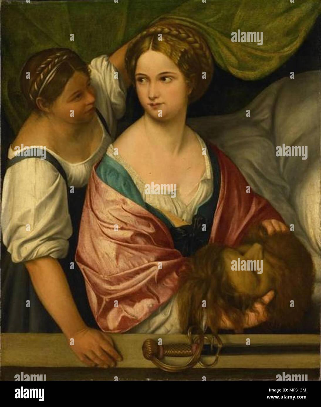 Judith with the head of Holofernes  1500-1539.   1014 Pordenone Judith con la cabeza de Holofernes Rijksmuseum - Stock Image