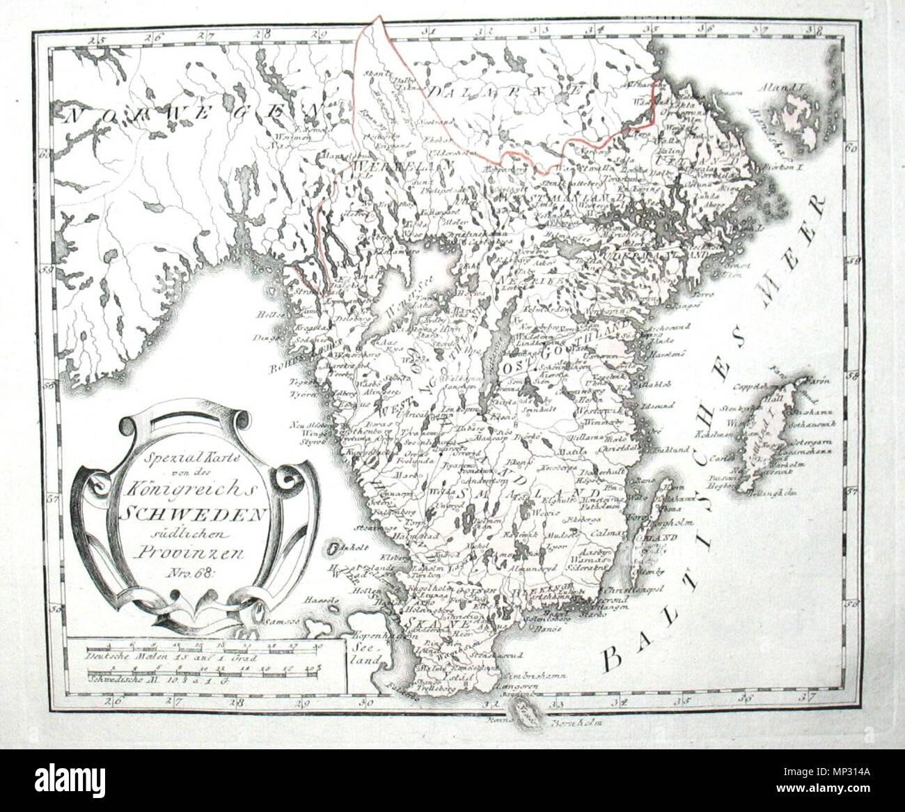 Schweden Karte Deutsch.Karte Von Schweden Stock Photos Karte Von Schweden Stock