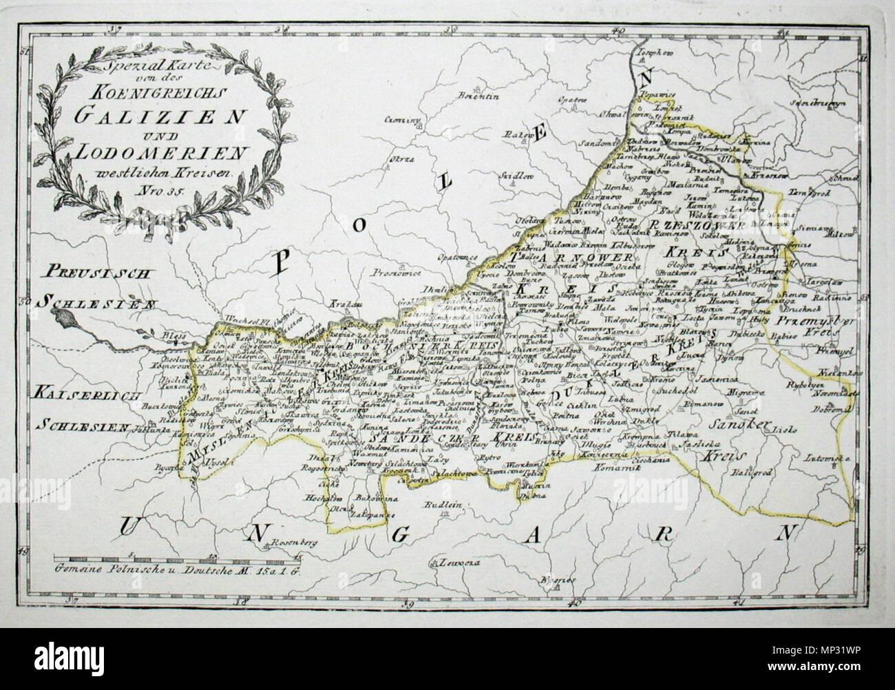 Galizien Karte.Deutsch Spezial Karte Von Des Koenigreichs Galizien Und Lodomerien