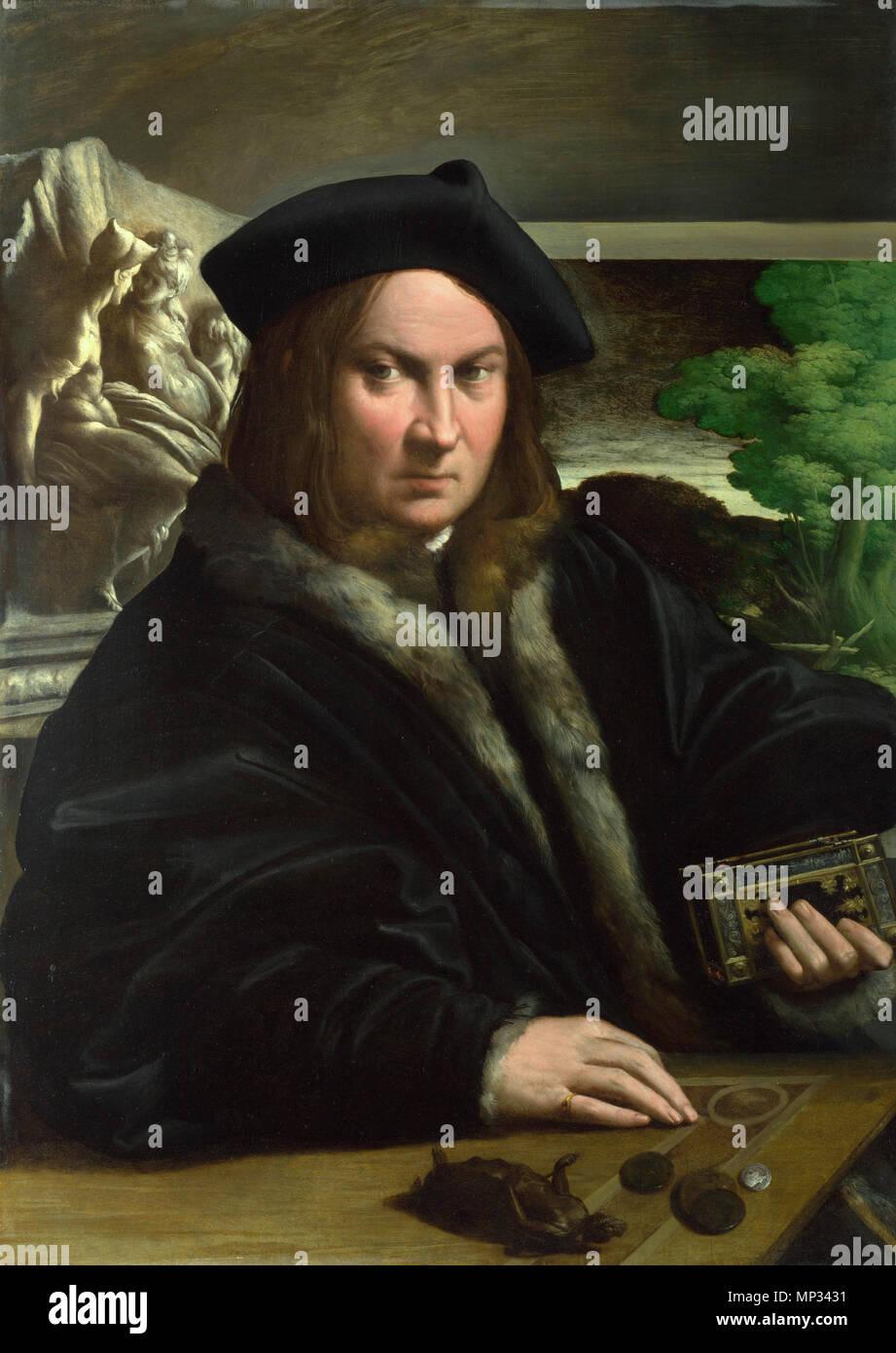 Portrait Of A Collector Portrait Of A Collector . Portrait Of Francesco  Mazzola . 16th Century. 961 Parmigianino 025