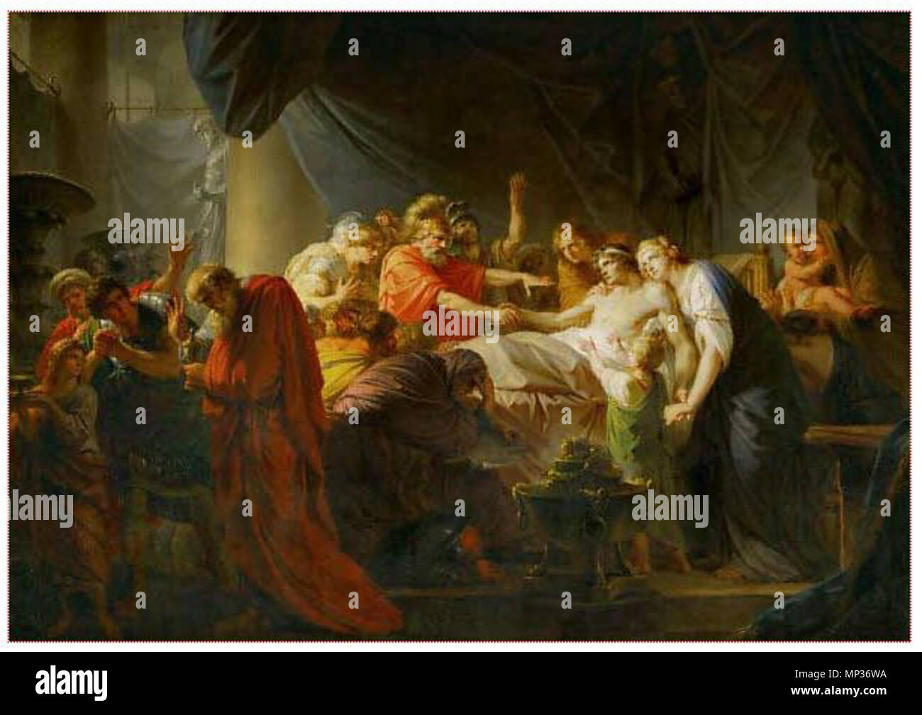 1171 The Death of Germanicus (Füger) Stock Photo