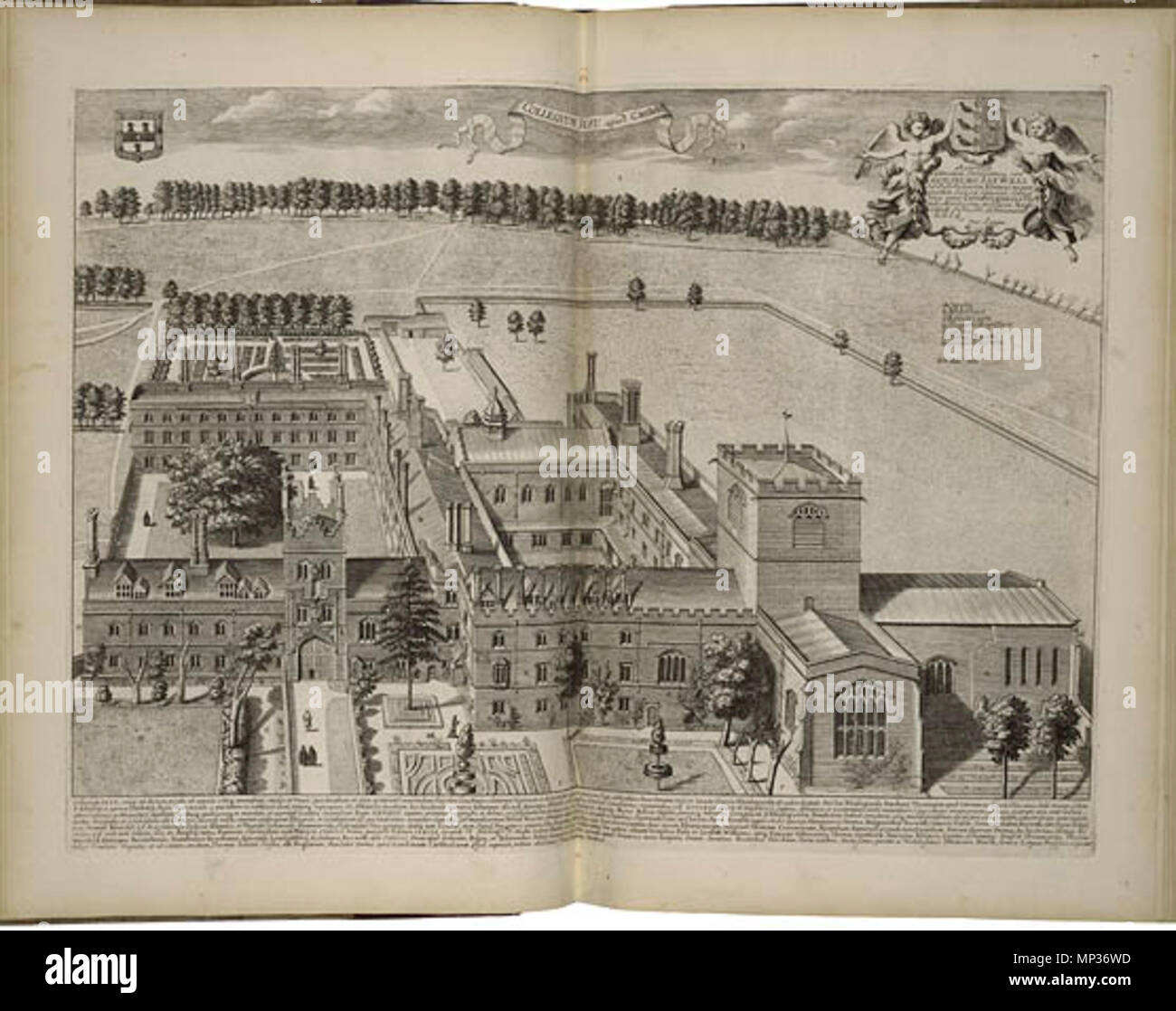 L2837, Plate XXIV    . English: Bird's eye view of Jesus College, Cambridge by David Loggan, published in 1690 . 1690.   David Loggan (1634–1692)  Description English artist and engraver  Date of birth/death August 1634 July 1692  Location of birth/death Gdańsk London  Authority control  : Q5236742 VIAF:88085606 ISNI:0000 0001 1856 4291 ULAN:500030441 LCCN:n84133161 GND:131599224 WorldCat 718 Jesus College, Cambridge by Loggan 1690 - Folger 046539W5 - Stock Image