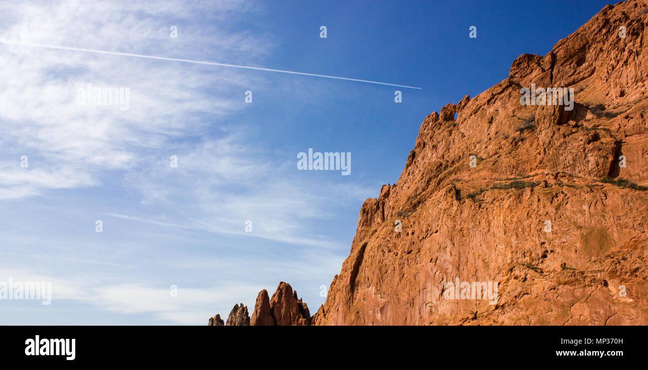 Kissing Camels Rock Formation, Garden of the Gods, Colorado Springs, Colorado, USA - Stock Image