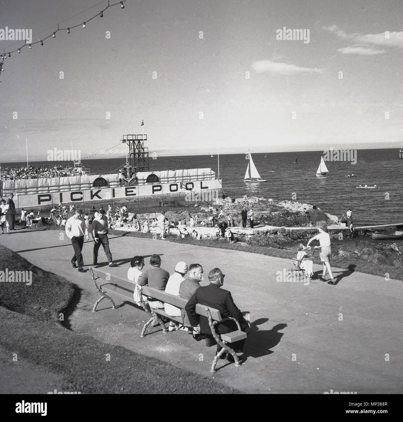 1950s swimming pool stock photos 1950s swimming pool - Bangor swimming pool northern ireland ...