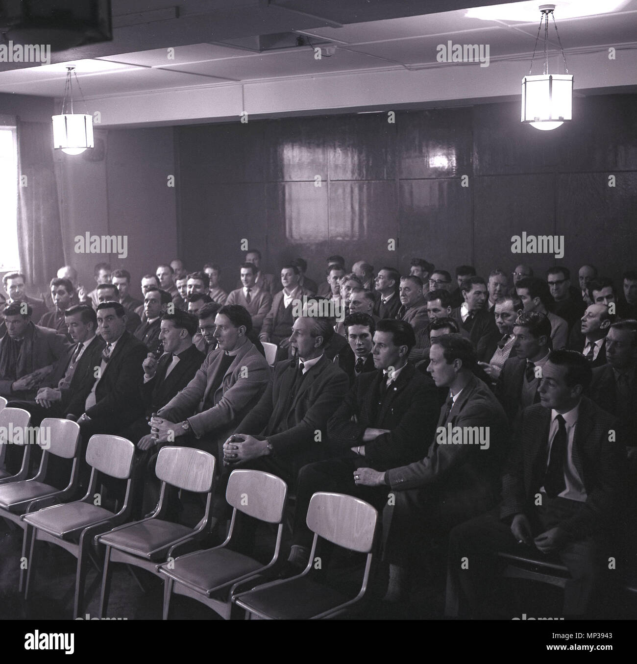1965 historical at the calvert brickworks a trade union meeting