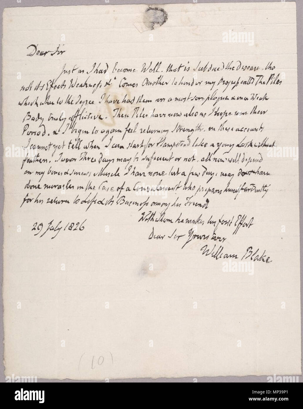 English: Letter to John Linnell, 29 July 1826, object 2   17