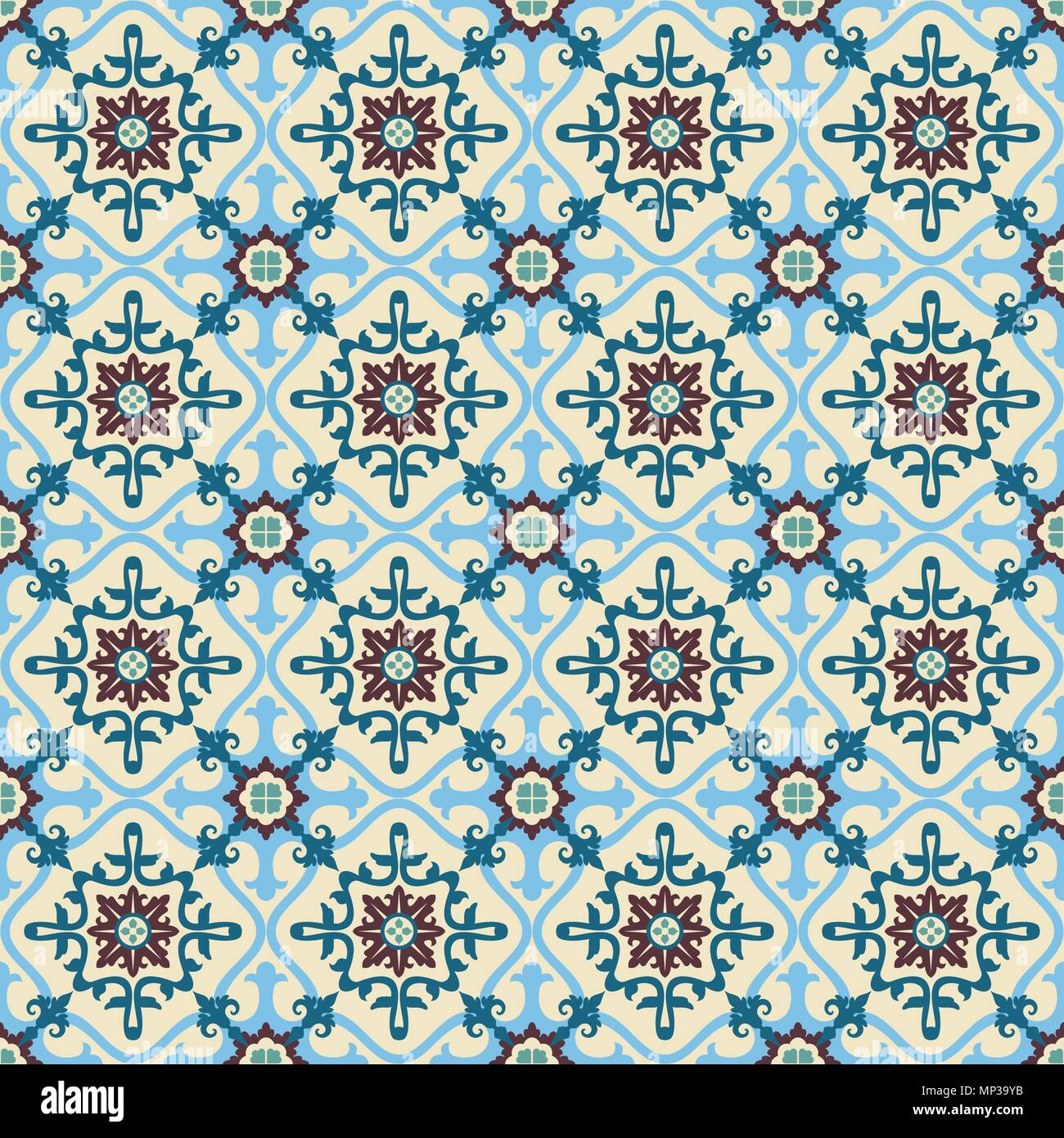 Patterning of ancient tiles. Design original and exclusive Stock ...