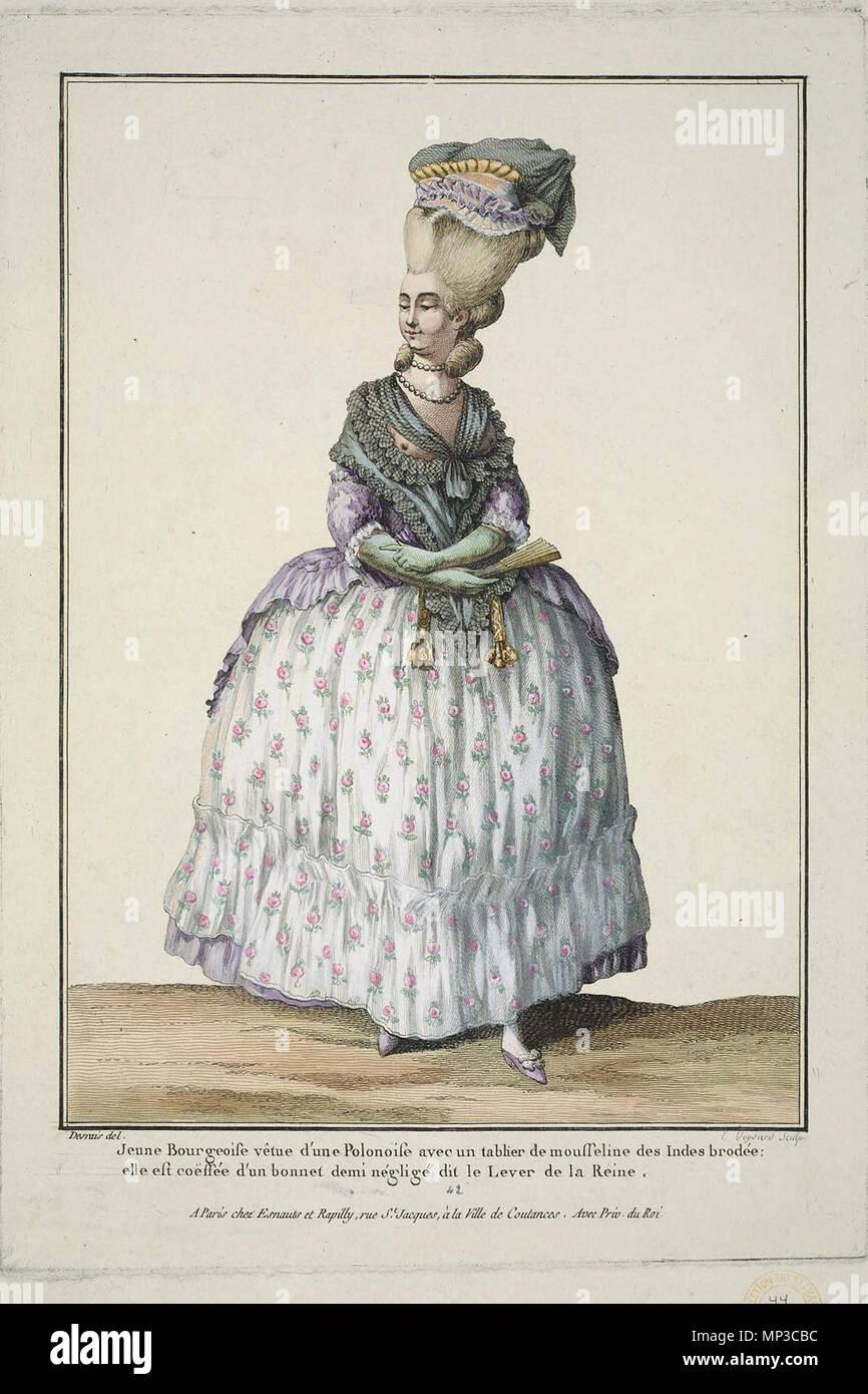 718 Jeune Bourgeoise vêtue d'une Polonoise - Stock Image