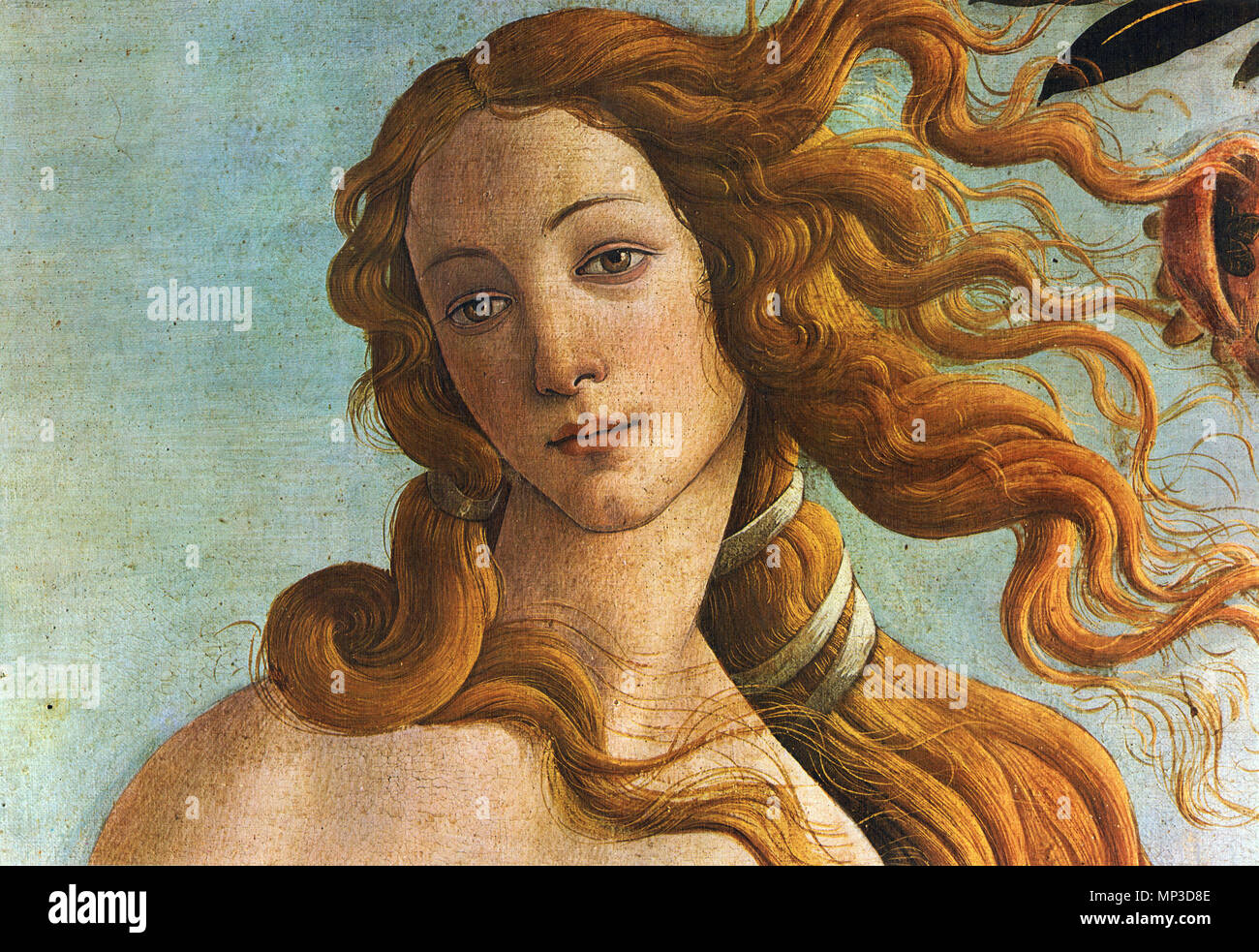 The Birth of Venus (Detail) . Pintura renacentista . 1480.    Sandro Botticelli  (1445–1510)      Alternative names Birth name: Allessandro Filipepi Sandro Filipepi Alessandro di Mariano Filipepi Alessandro di Mariano Filipepi Botticelli  Description Italian painter and artist  Date of birth/death 1 March 1445 17 May 1510  Location of birth/death Florence Florence  Work location Florence (1469–1481), Pisa (1475), Rome (1481–1482), Florence (1482–1490), Volterra (ca. 1483), Mantua (1502), Florence (1503–1510)  Authority control  : Q5669 VIAF: 19686406 ISNI: 0000 0001 2099 4768 ULAN: 500015254 L Stock Photo