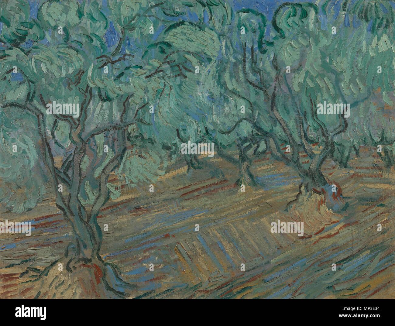 Platteland landschap met haaystacks aquarel schilderij
